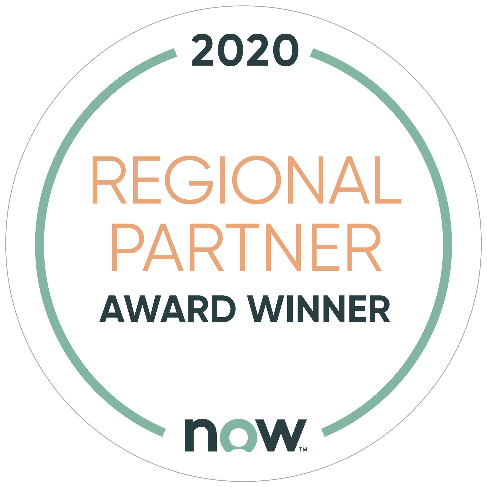 2020 Regional Partner - Award Winner - ServiceNow