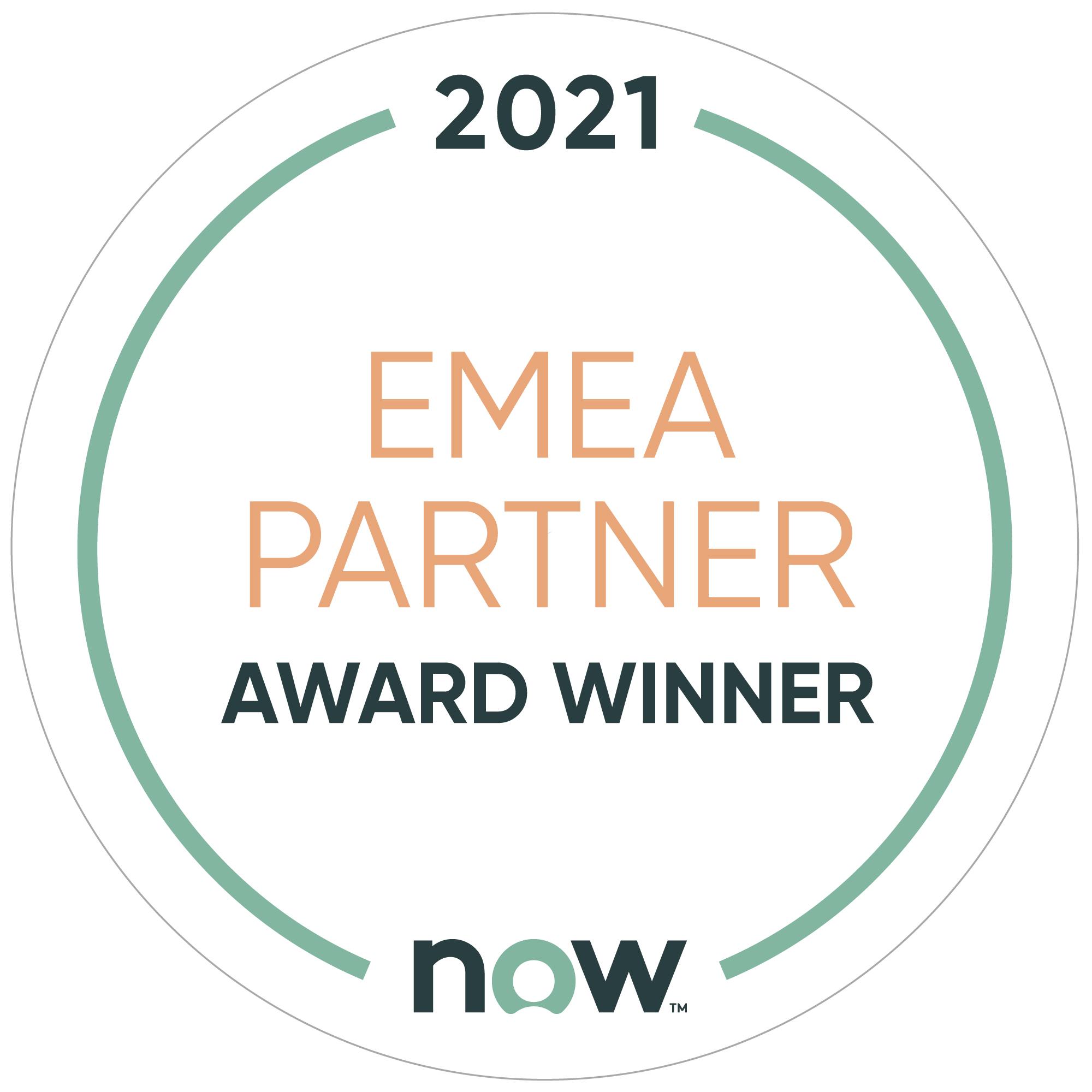 2021 EMEA Partner - Award Winner - ServiceNow